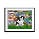 Lilies / Lhasa Apso #2 Framed Panel Print