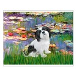 Lilies / Lhasa Apso #2 Small Poster