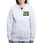 Lilies / Lhasa Apso #2 Women's Zip Hoodie