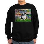 Lilies / Lhasa Apso #2 Sweatshirt (dark)