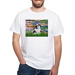 Lilies / Lhasa Apso #2 White T-Shirt