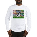 Lilies / Lhasa Apso #2 Long Sleeve T-Shirt
