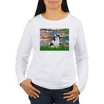 Lilies / Lhasa Apso #2 Women's Long Sleeve T-Shirt