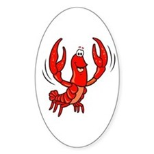 Crawfish Oval Decal