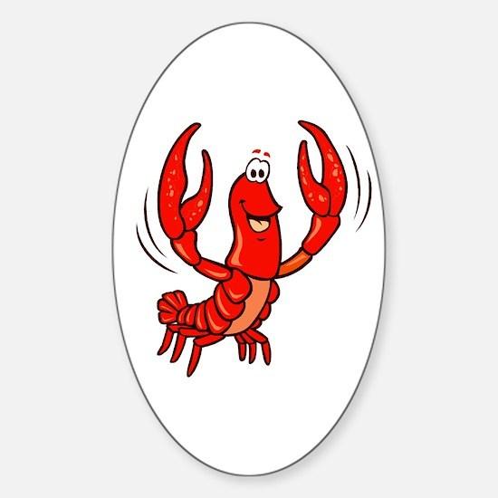 Crawfish Oval Decal