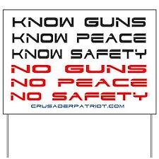 Cute The history of gun control Yard Sign