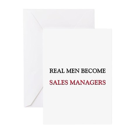Real Men Become Sales Managers Greeting Cards (Pk