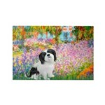 Garden / Lhasa Apso #2 Rectangle Magnet