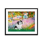 Garden / Lhasa Apso #2 Framed Panel Print
