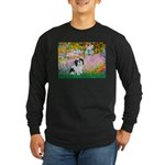 Garden / Lhasa Apso #2 Long Sleeve Dark T-Shirt