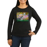 Garden / Lhasa Apso #2 Women's Long Sleeve Dark T-