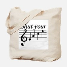 Shut your face Tote Bag