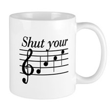 Shut your face Small Mugs