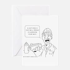 Cute Junk food Greeting Card