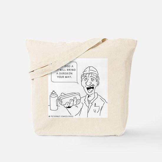 Funny Coronary Tote Bag