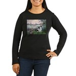 Seine / Lhasa Apso #2 Women's Long Sleeve Dark T-S