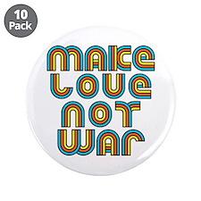 """Make Love Not War 3.5"""" Button (10 pack)"""