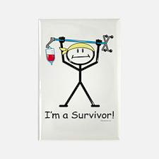 Cancer Survivor Rectangle Magnet