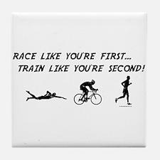 Race Like Your First Triathlon Tile Coaster
