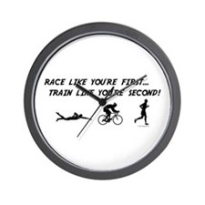 Race Like Your First Triathlon Wall Clock