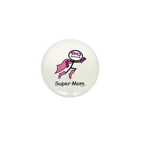Super Mom Mini Button (100 pack)