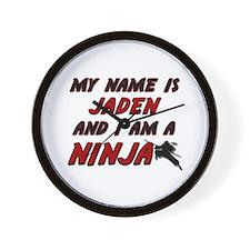 my name is jaden and i am a ninja Wall Clock