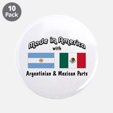 """Argentinian-Mexican 3.5"""" Button (10 pack)"""