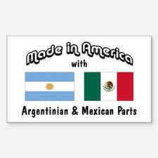 Argentinian-Mexican Rectangle Sticker 50 pk)