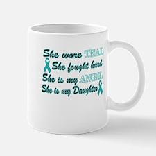 She is my Daughter Teal Angel Mug