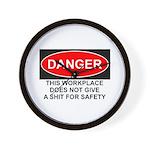 Danger Sign Wall Clock