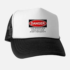 Danger Sign Trucker Hat