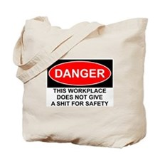Danger Sign Tote Bag