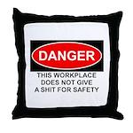 Danger Sign Throw Pillow