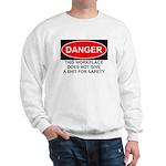 Danger Sign Sweatshirt