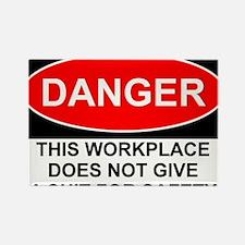 Danger Sign Rectangle Magnet