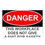 Danger Sign Postcards (Package of 8)