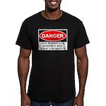Danger Sign Men's Fitted T-Shirt (dark)