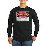 Danger Sign Long Sleeve Dark T-Shirt