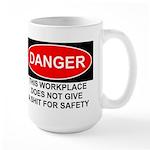 Danger Sign Large Mug