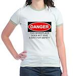 Danger Sign Jr. Ringer T-Shirt
