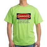 Danger Sign Green T-Shirt