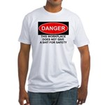 Danger Sign Fitted T-Shirt