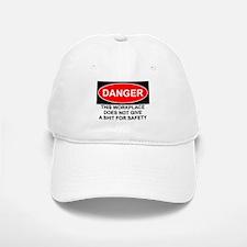 Danger Sign Baseball Baseball Cap