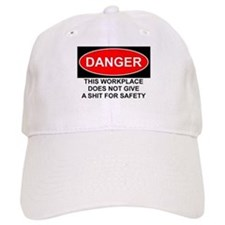 Danger Sign Baseball Cap