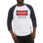 Danger Sign Baseball Jersey