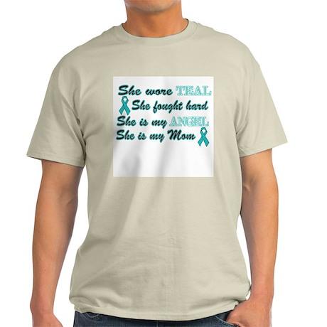 She is Mom Angel Teal Light T-Shirt