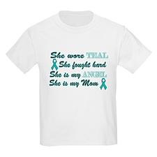 She is Mom Angel Teal T-Shirt