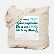She is Mom Angel Teal Tote Bag