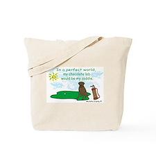 chocolate lab Tote Bag