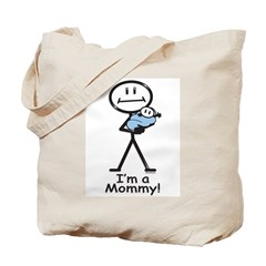 New Mom Baby Boy Tote Bag